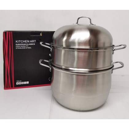 [ETA 20/4] KCJ 32CM 3 Layer High Quality Multi-Function Stainless Steel Steamer Pot Cookware
