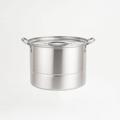 [11.11 BIG SALE PROMO] High Quality 8pc Stainless Steel Deep Stock Pot With Silver Lids