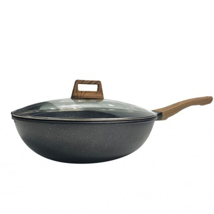 [PREORDER] ETA 15/7 KCJ High Quality Smokeless Non-Stick Frying Pan 32cm with Glass Lid