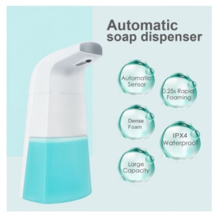 [READY STOK] KCJ USB Rechargeable Auto Foaming Hand Wash Automatic Foam Soap Dispenser Sanitizer Dispenser