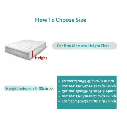 [READY STOK] CADAR VIRAL ANTI KEDUT Fitted Bedsheet FREE 2PCS PILLOW CASE Mattress Cover Cotton Printed Bed Sheet Queen Breathable Mattress Protector Bedspread Home Bedding Sets