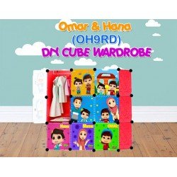 Omar & Hana RED 9C DIY WARDROBE (OH9RD)