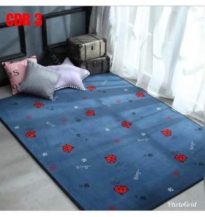 NEW TATAMI DESIGN CARPET (190cm x 190cm) WITH ANTISLIP