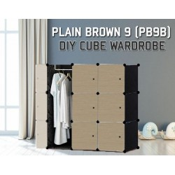 Plain Brown 9Cube Diy Wardrobe (PB9B)