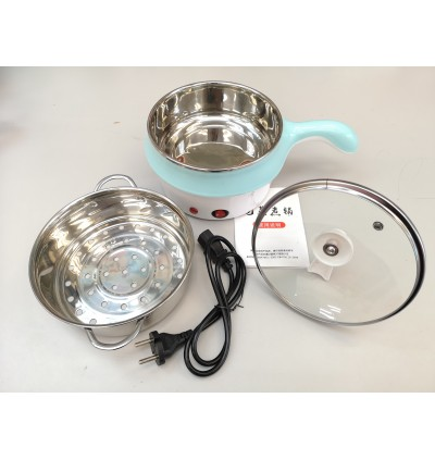 KCJ Multifunction Stainless Steel Electric Mini Cooker Pot With Steamer
