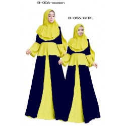 JUBAH - KIDS (YELLOWBLUE)