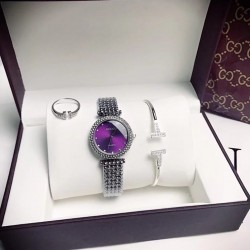 GUCC08 A02 GUCCI Elegant Watch Set (Watch + Bangle + Ring )