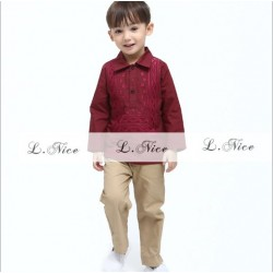 LNICE BOY SET -MEROON (Code Colour 7)