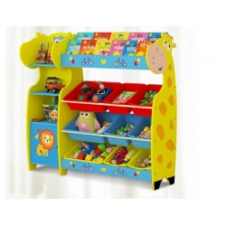 BIG Giraffe Rack Book And Toys Shelf Storage Rack@Multipurpose Rack@Toys Rack with 9Bins (3Big + 6small)