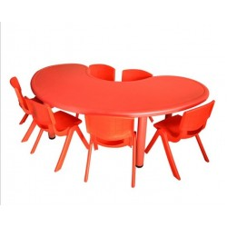 Study Playing Dining Kids Moon Shaped Tables (Table Only)