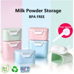 KCJ New Baby Milk Powder Storage Airtight Portable Container Tank Sealed Canisters (With Spoon)