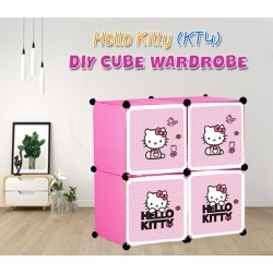 KCJ HELLO KITTY 4C DIY Rack Storage Cabinet Wardrobe (KT4C)