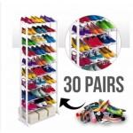 KCJ 10 Tier Amazing Shoe Rack / 10 Tingkat Rak Kasut / Rak Tudung