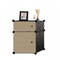KCJ PLAIN BROWN PB2SB DIY Rack Storage Cabinet Wardrobe With Almari Hanger