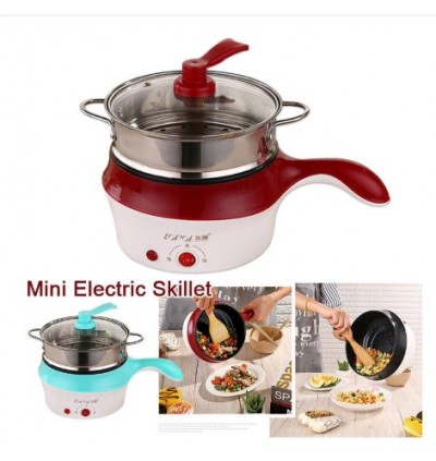 KCJ Lopol Electric NonStick Ceramic/Marble Frying Pan Rice Multi Mini Cooker