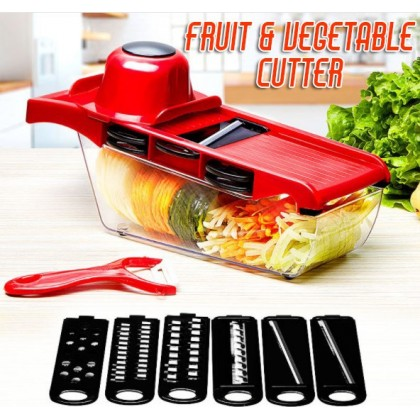 KCJ 10 In 1 Vegetable Slicer, Grater, Cutter with Stainless Steel Blades