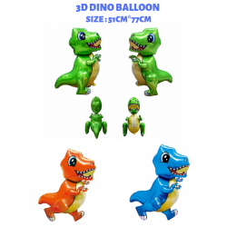 KCJ Dino Dinasour 3D Helium Foil Balloons Birthday Party Decor Balloon kid toy