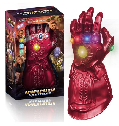 KCJ Thanos/Ironman Infinity Gauntlet With LED Light  Marvel Legends Thanos Gauntlet Gloves Avengers4
